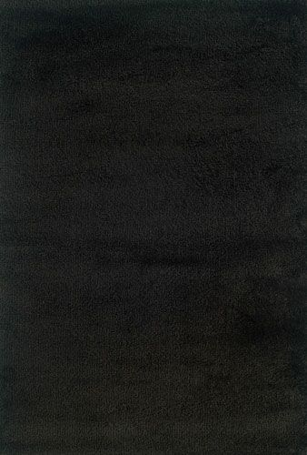 Mazon Solid Black Shag Area Rug Rug Size: Rectangle 9'10
