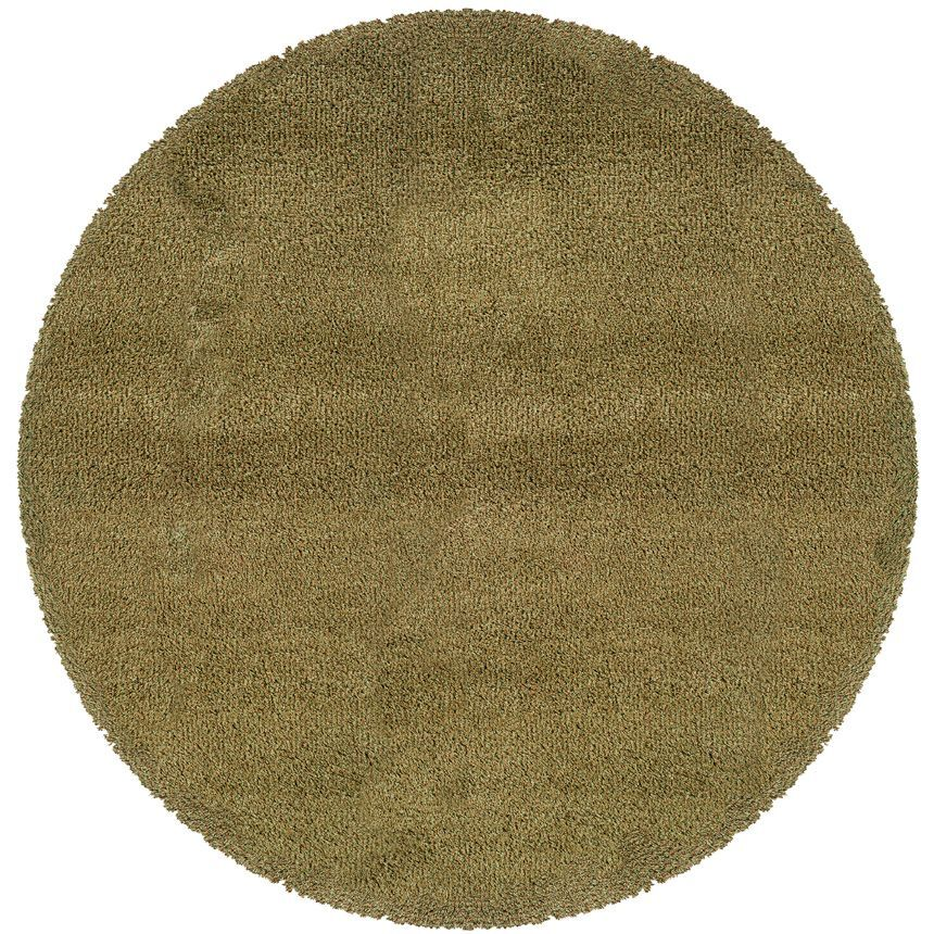 Mazon Tweed Green/Gold Area Rug Rug Size: Round 8'