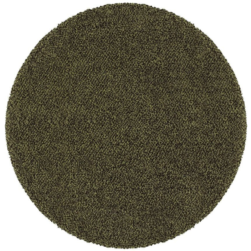 Mazon Tweed Green/Brown Area Rug Rug Size: Round 8'