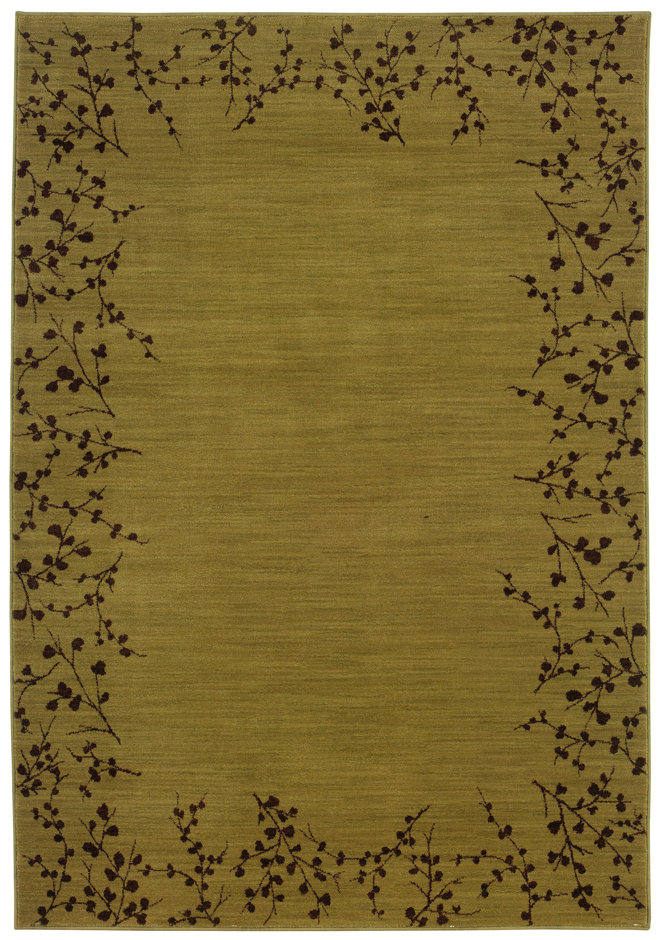 Ryles Gold/Brown Area Rug Rug Size: Rectangle 9'10