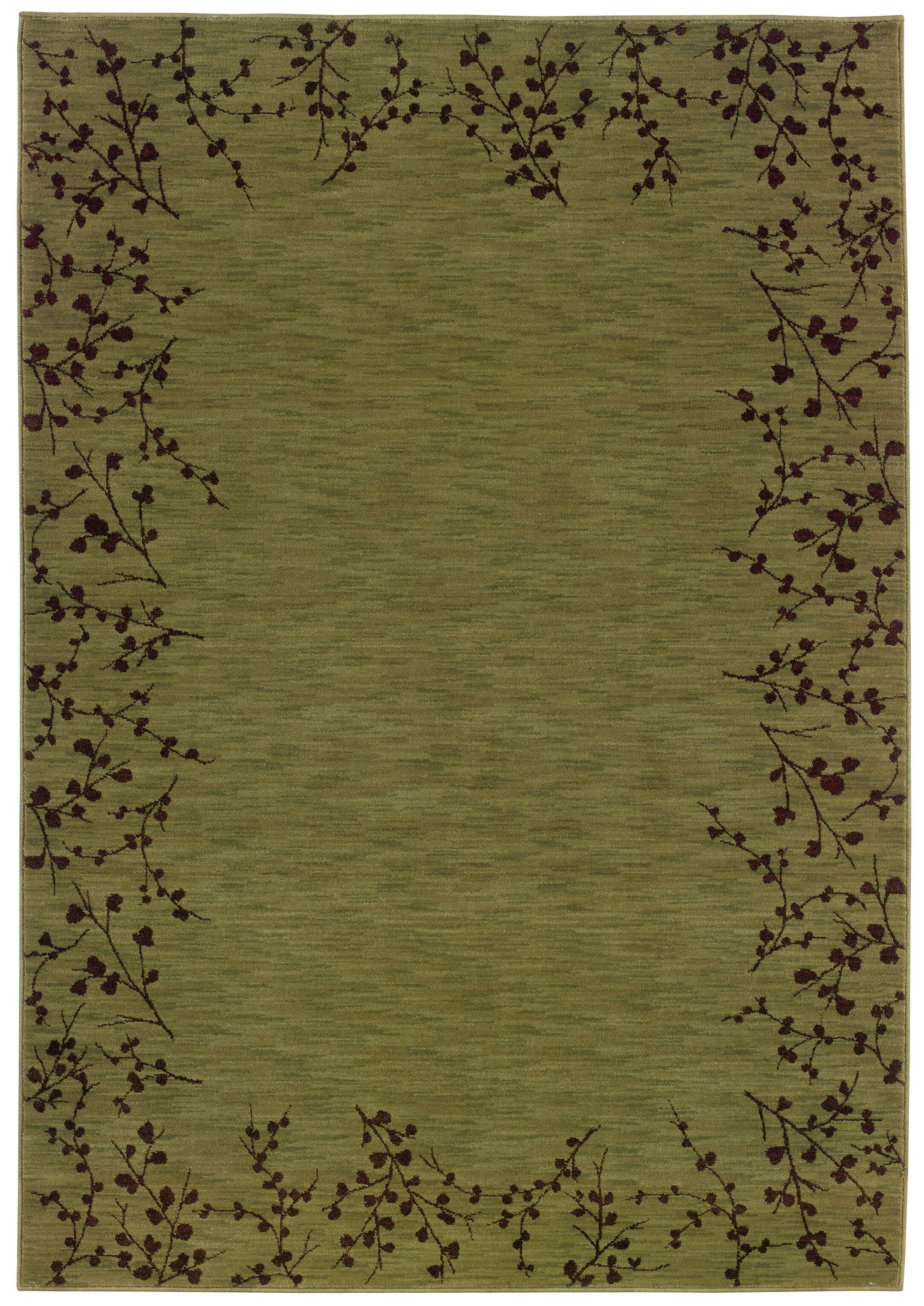 Ryles Green/Brown Area Rug Rug Size: Rectangle 3'10