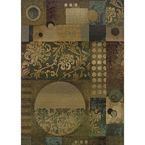 Sabanc Floral Blue/Beige Area Rug Rug Size: Rectangle 5'3