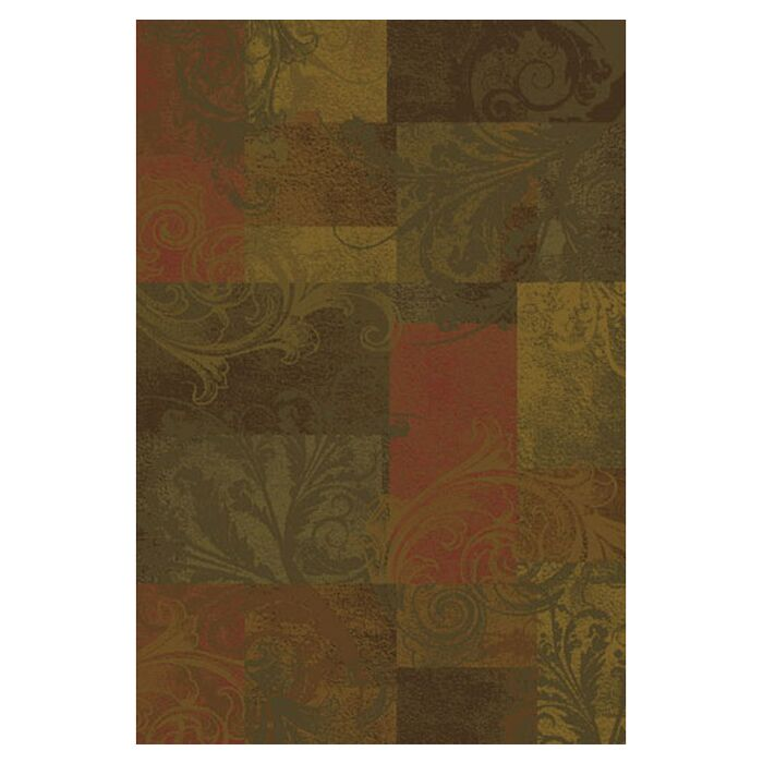Matteson Green/Red Area Rug Rug Size: Rectangle 3'10
