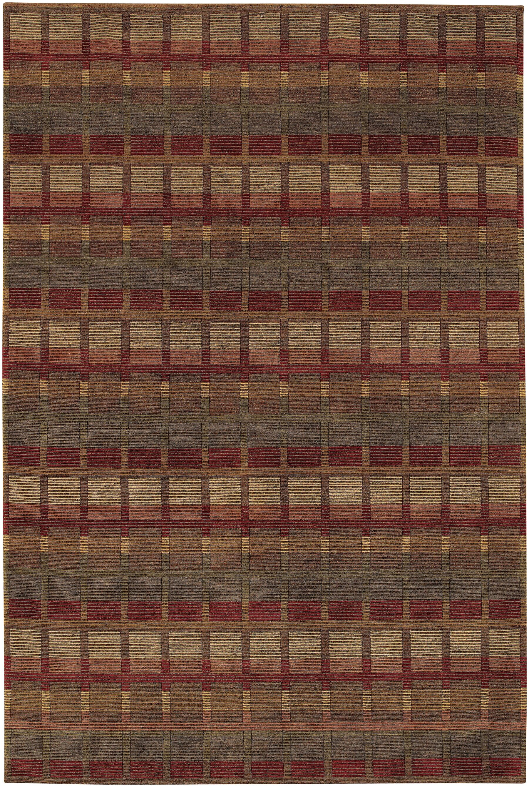 Sammons Hand-Knotted Gray/Red Area Rug Rug Size: Rectangle 9'6