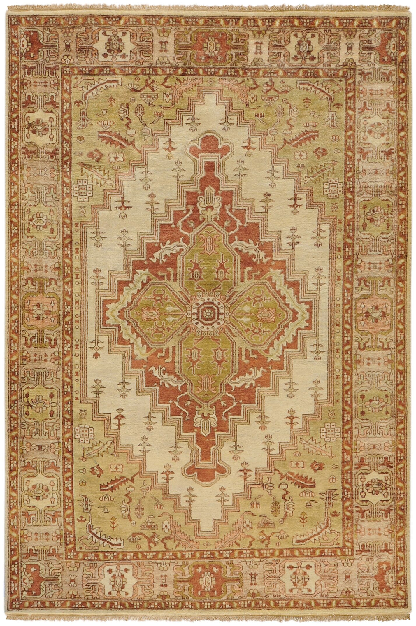 Orland Gold Area Rug Rug Size: Rectangle 5'6