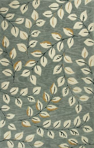 Lager Head Leaves Green Area Rug Rug Size: Round 5'6