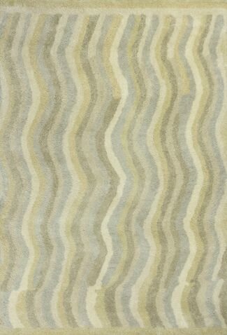 Lubin Waves Tan Area Rug Rug Size: Rectangle 5' x 7'6