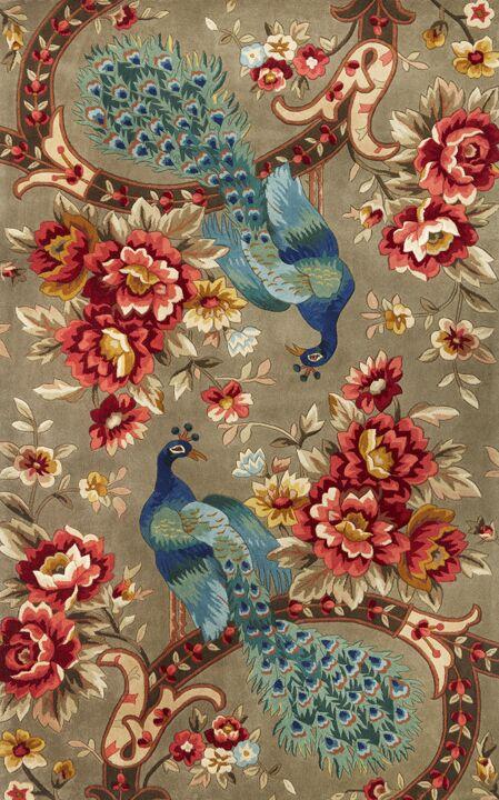 Las Cazuela Peacock Flora Rug Rug Size: Rectangle 2'6