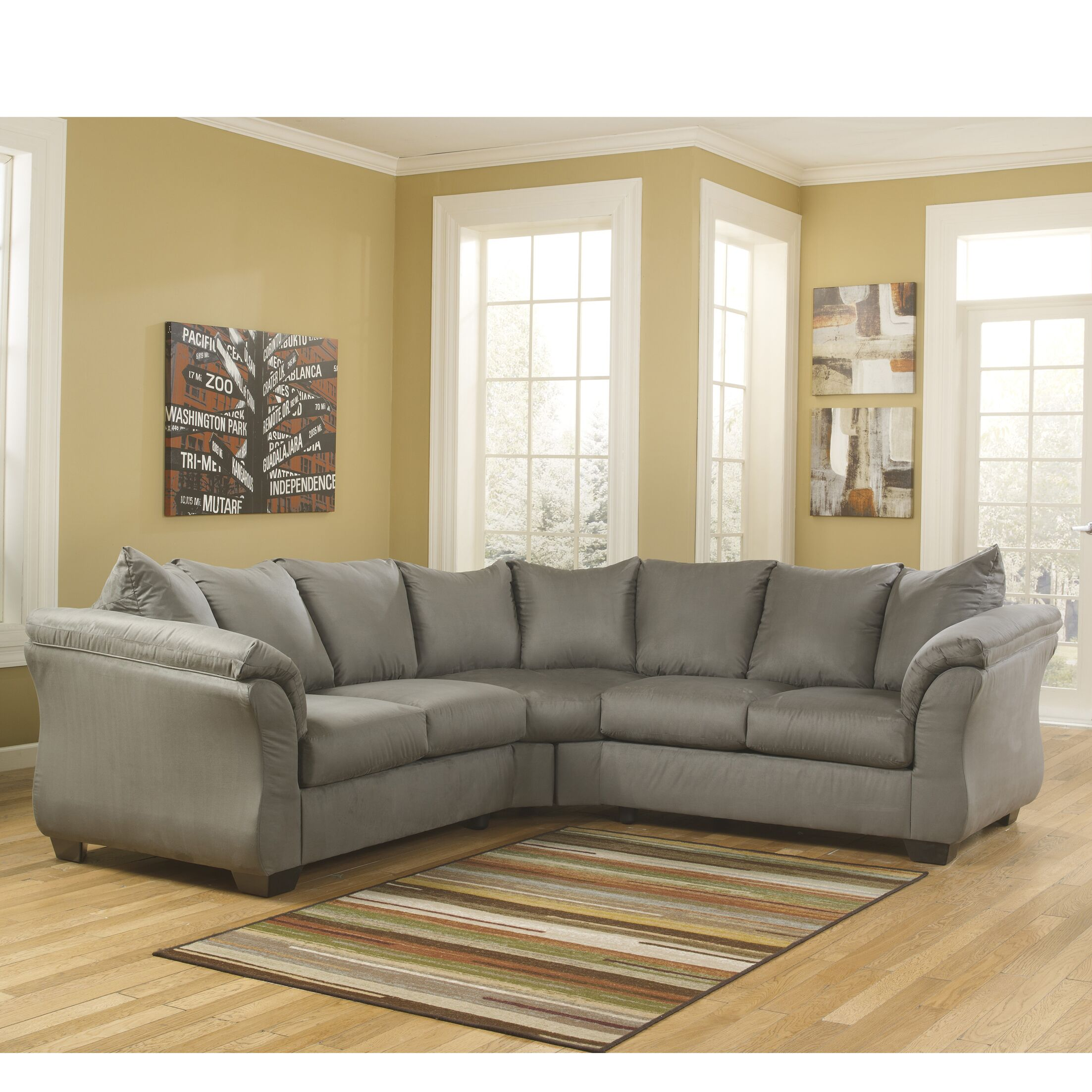 Chisolm Sectional Upholstery: Cobblestone