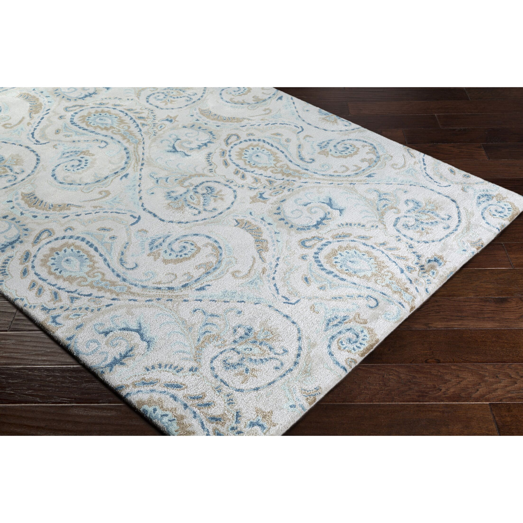 Houser Hand-Tufted Floral and paisley Area Rug Rug Size: Rectangle 9' x 13'