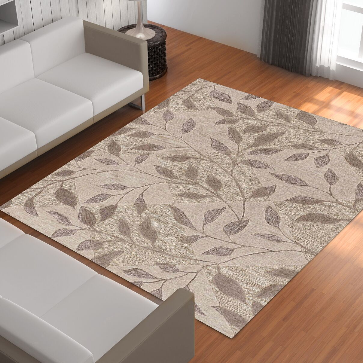 Bryant Hand-Tufted Ivory Area Rug Rug Size: Rectangle 5' x 7'9
