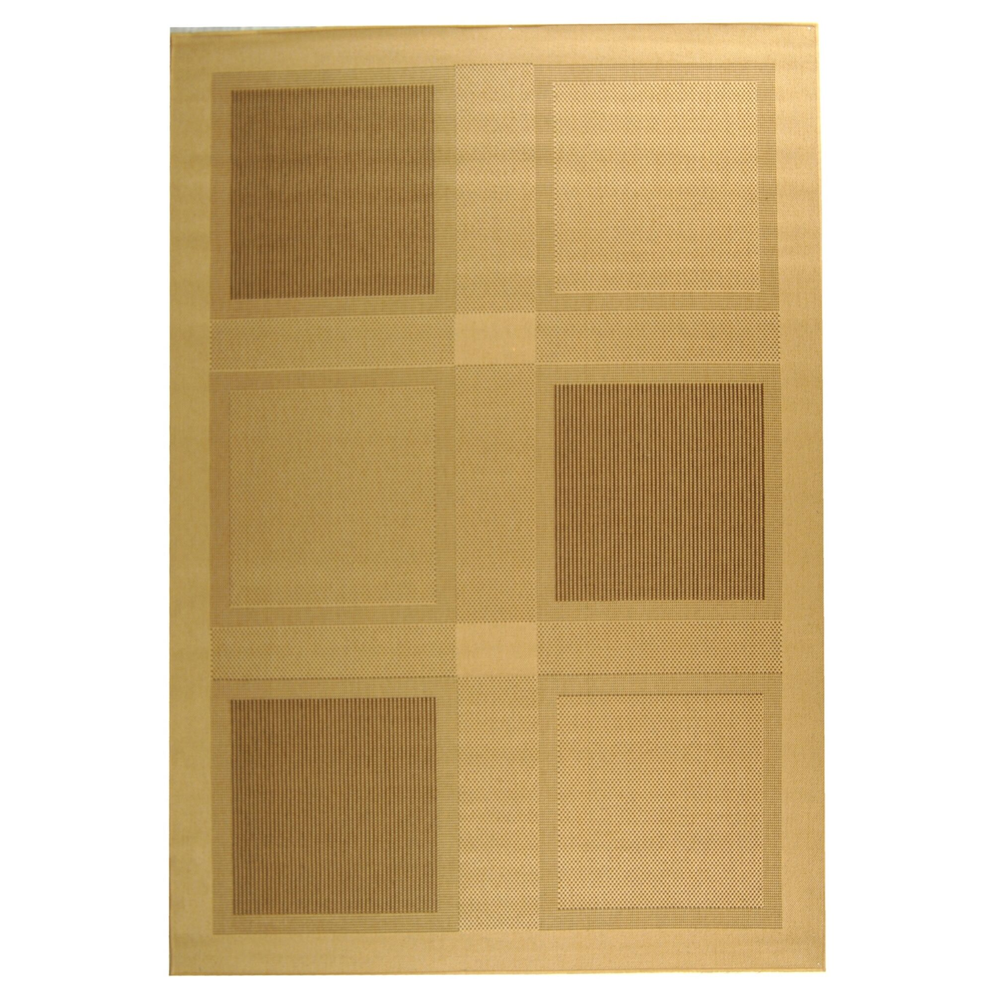 Barhill Large Boxes Outdoor Rug Rug Size: Rectangle 9' x 12'