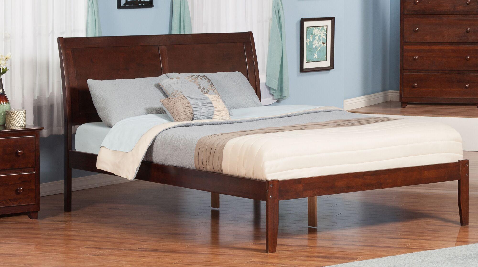 Wrington Platform Bed Size: Twin, Color: Antique Walnut