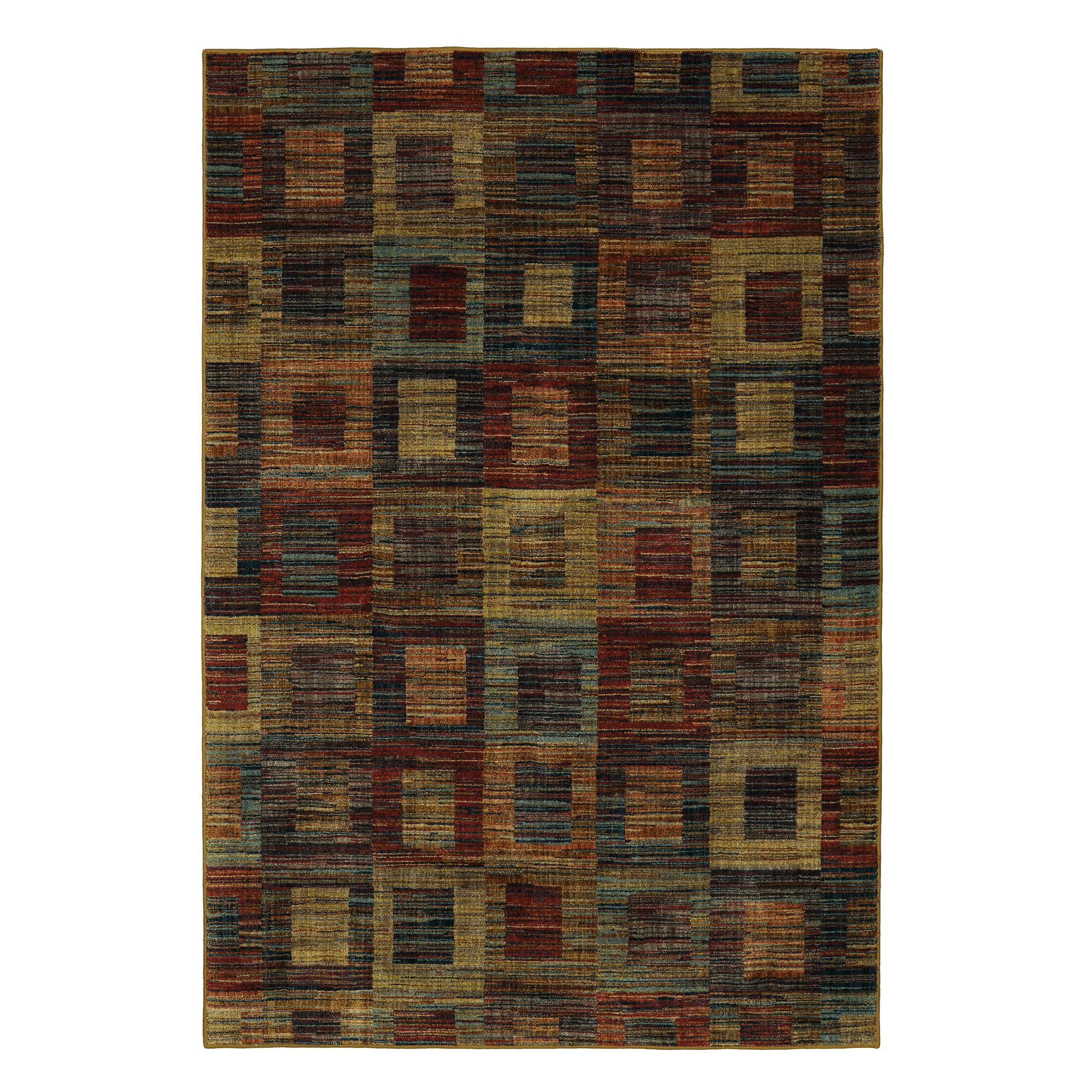Arpdale Rustic Square Blue/Red Area Rug Rug Size: 5' x 8'