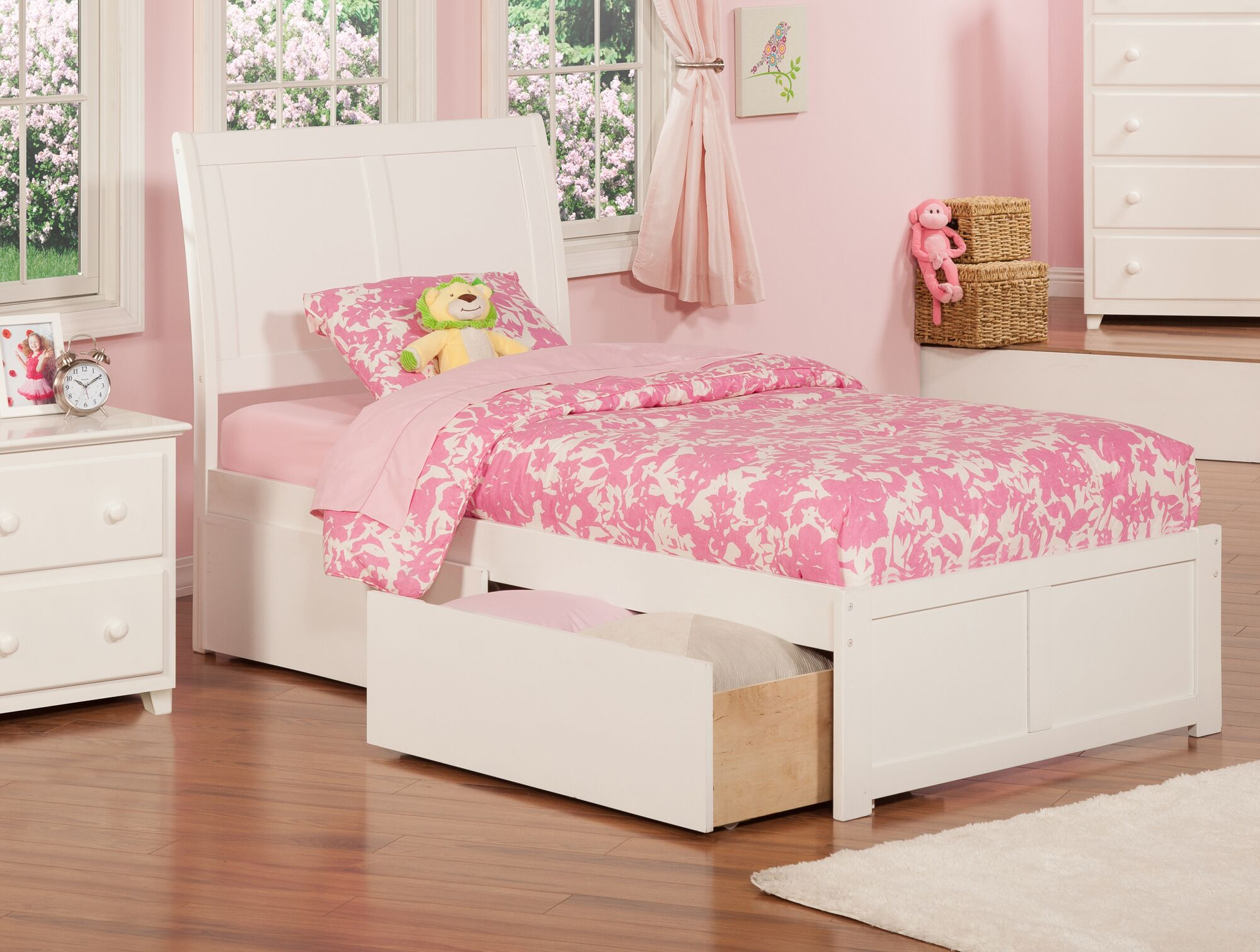 Wrington Storage Platform Bed Color: White, Size: Extra Long Twin