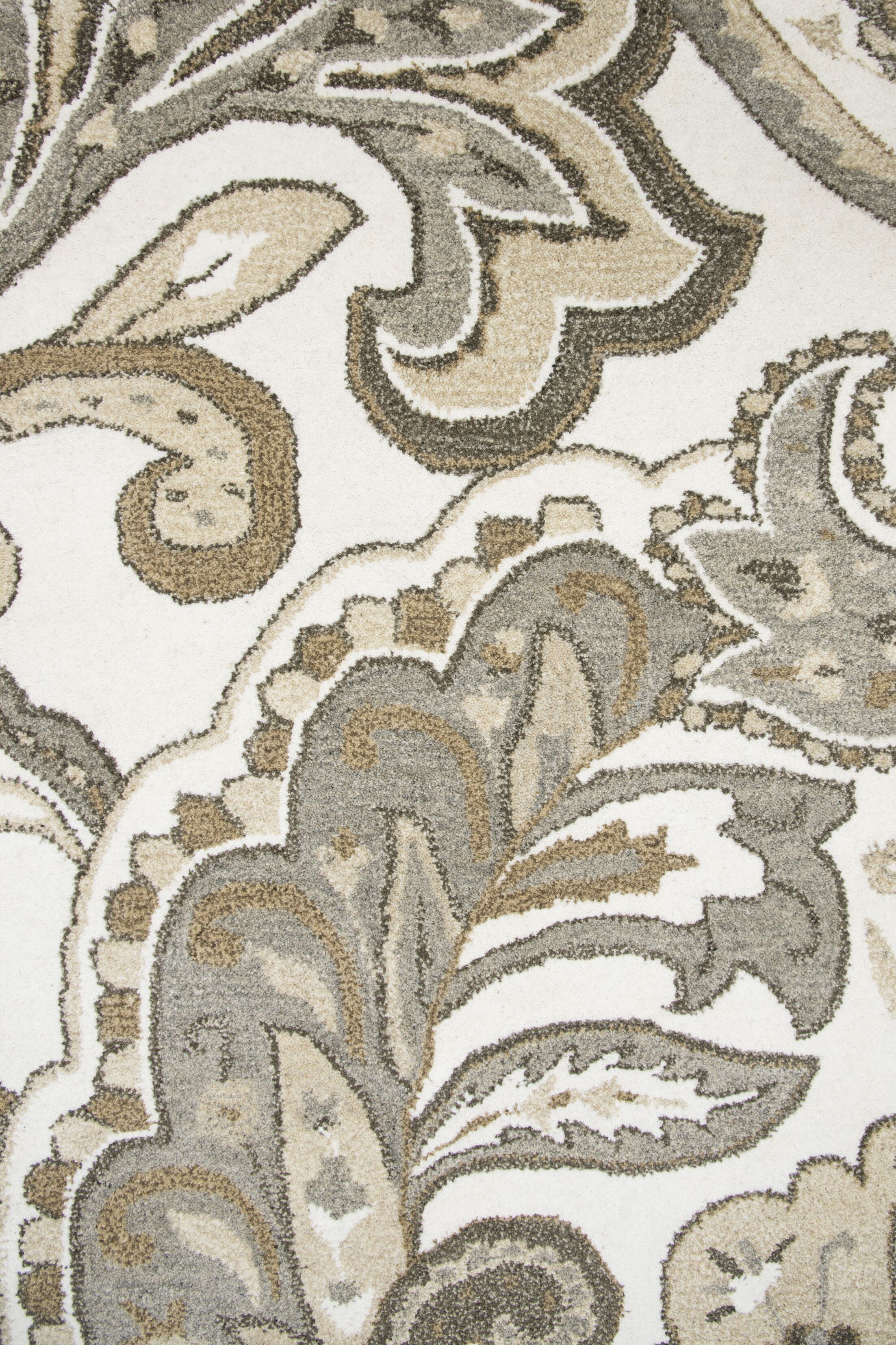 Allerton Hand-Tufted Beige/Gray Area Rug Rug Size: Rectangle 5' x 8'