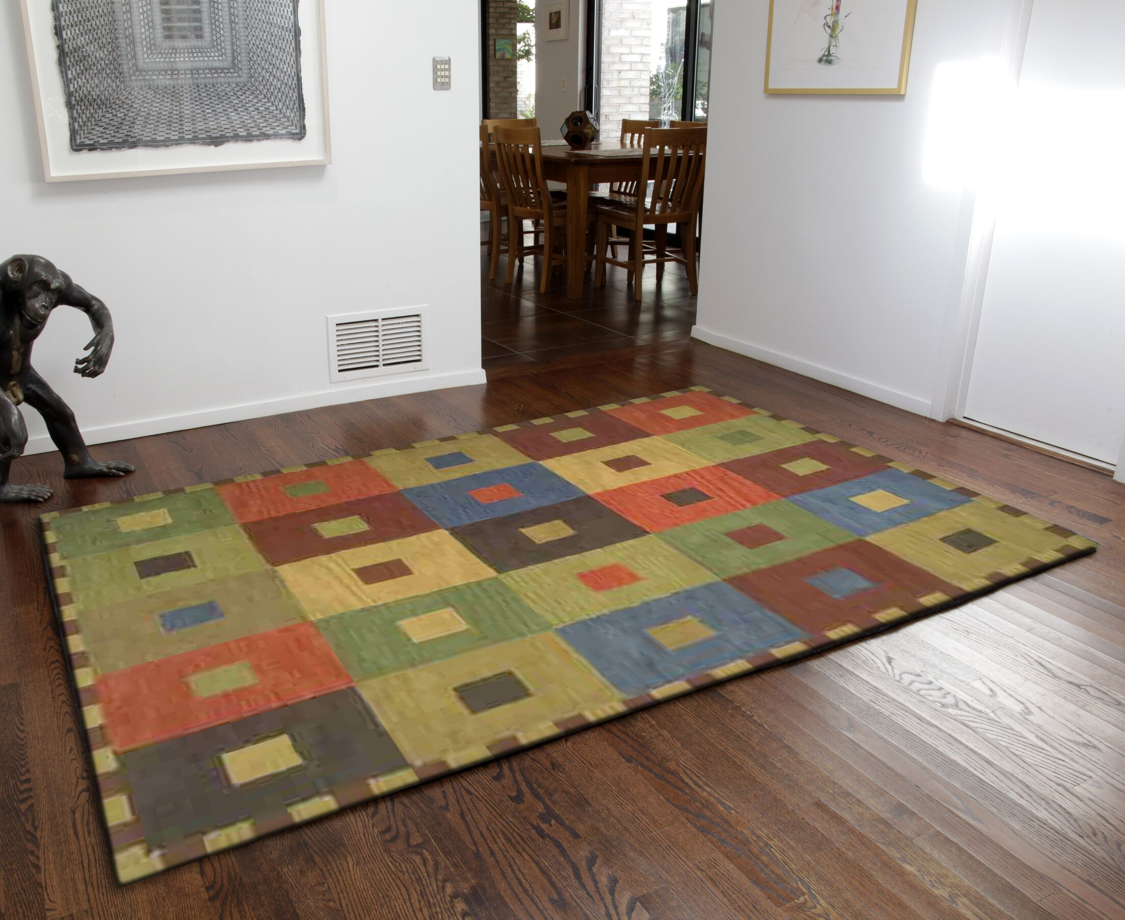 Abbottstown Squares Area Rug Rug Size: 9' x 12'