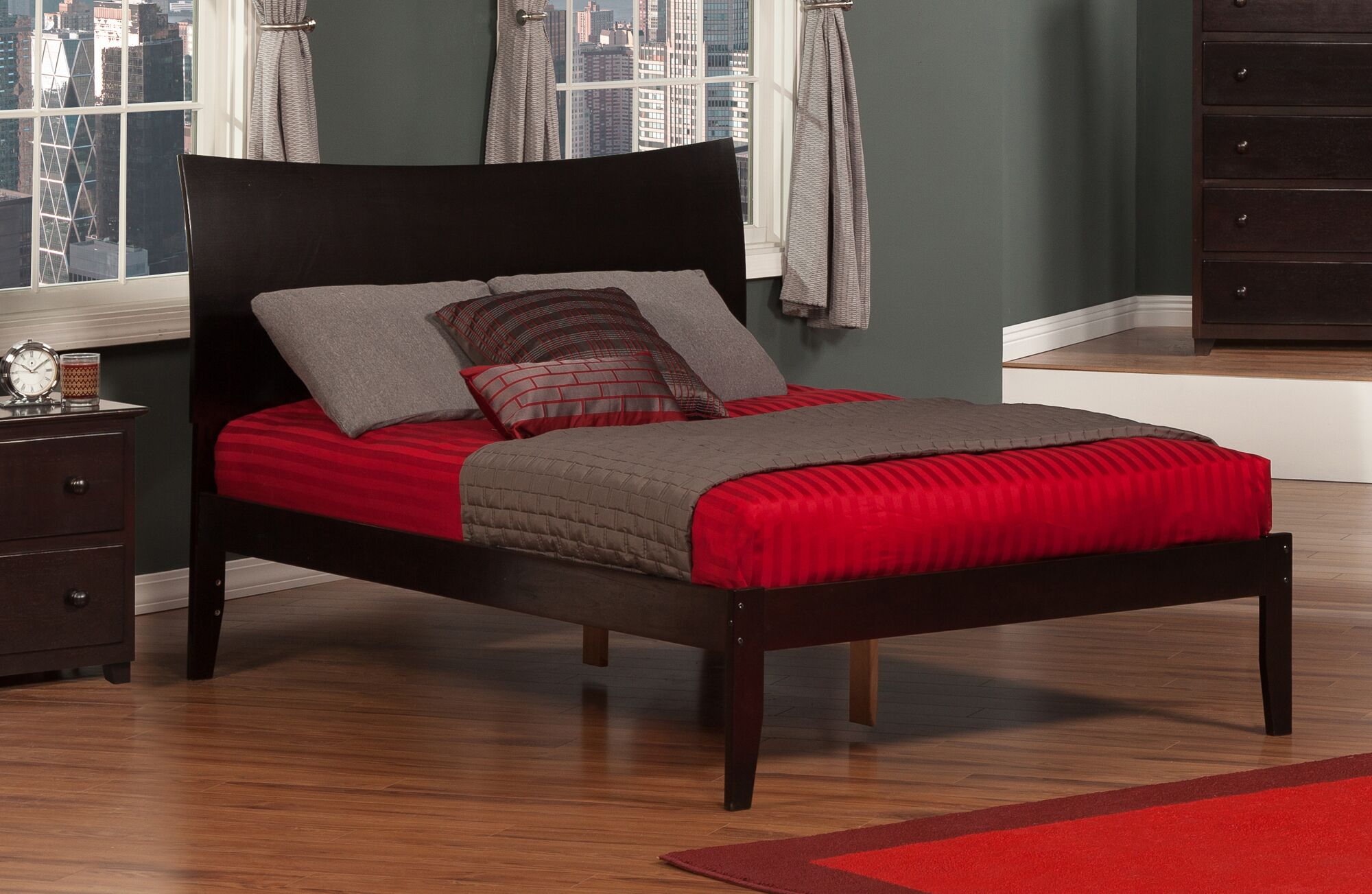 Wrington Platform Bed Color: Espresso, Size: Twin