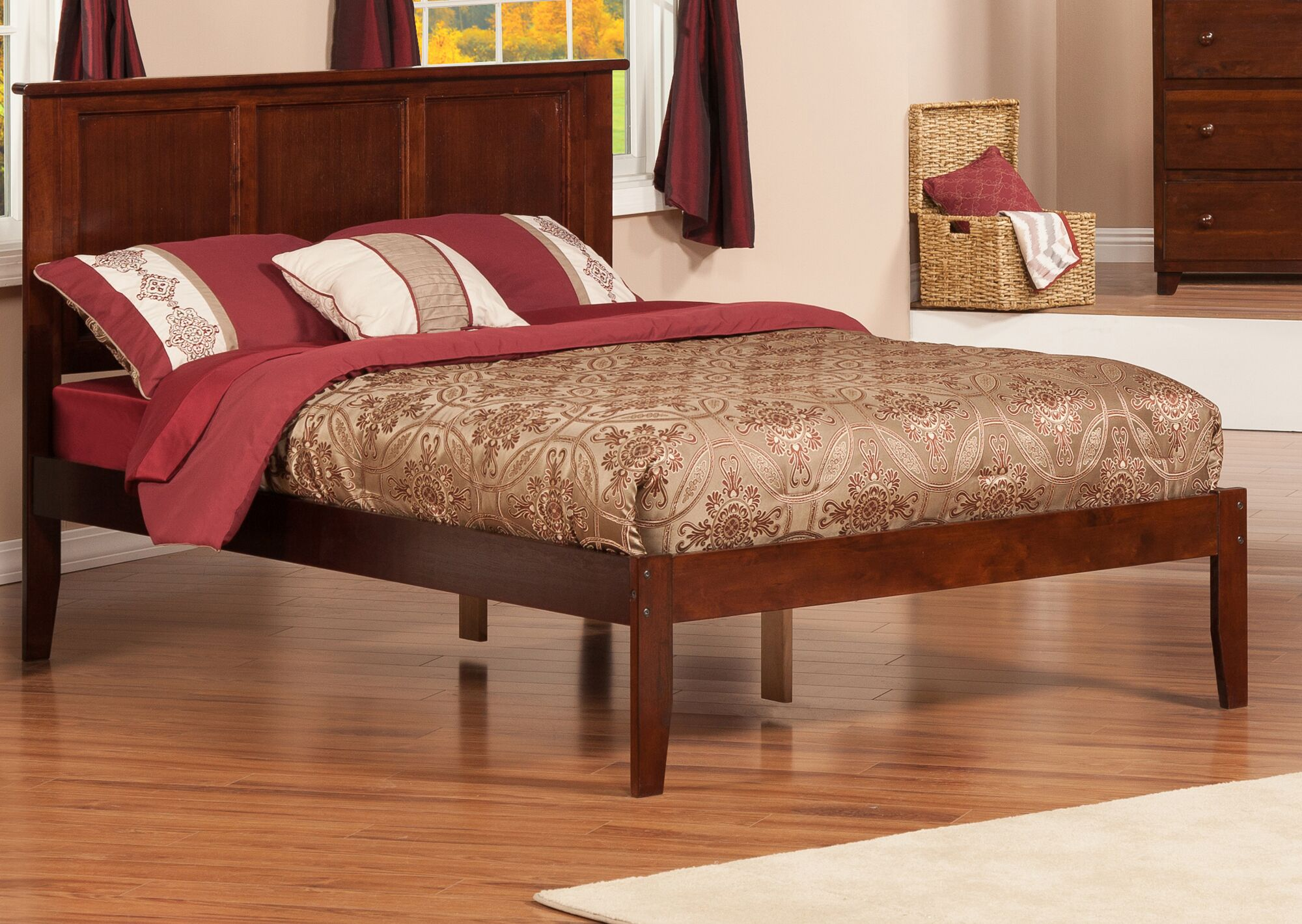 Wrington Platform Bed Color: Espresso, Size: Queen