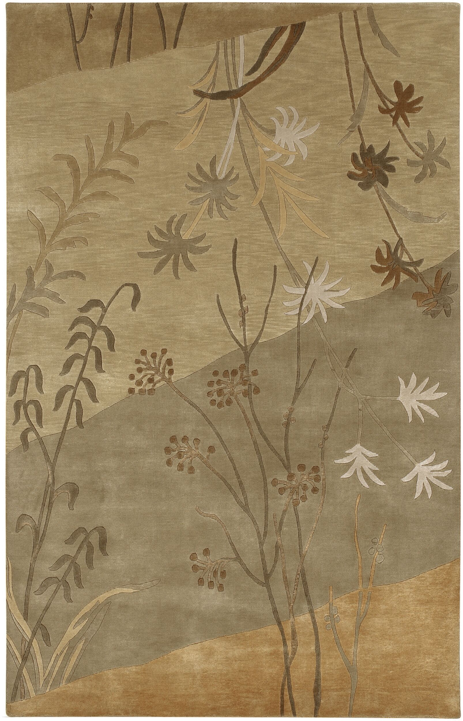 Jamaris Tan/Beige Area Rug Rug Size: Rectangle 9' x 13'