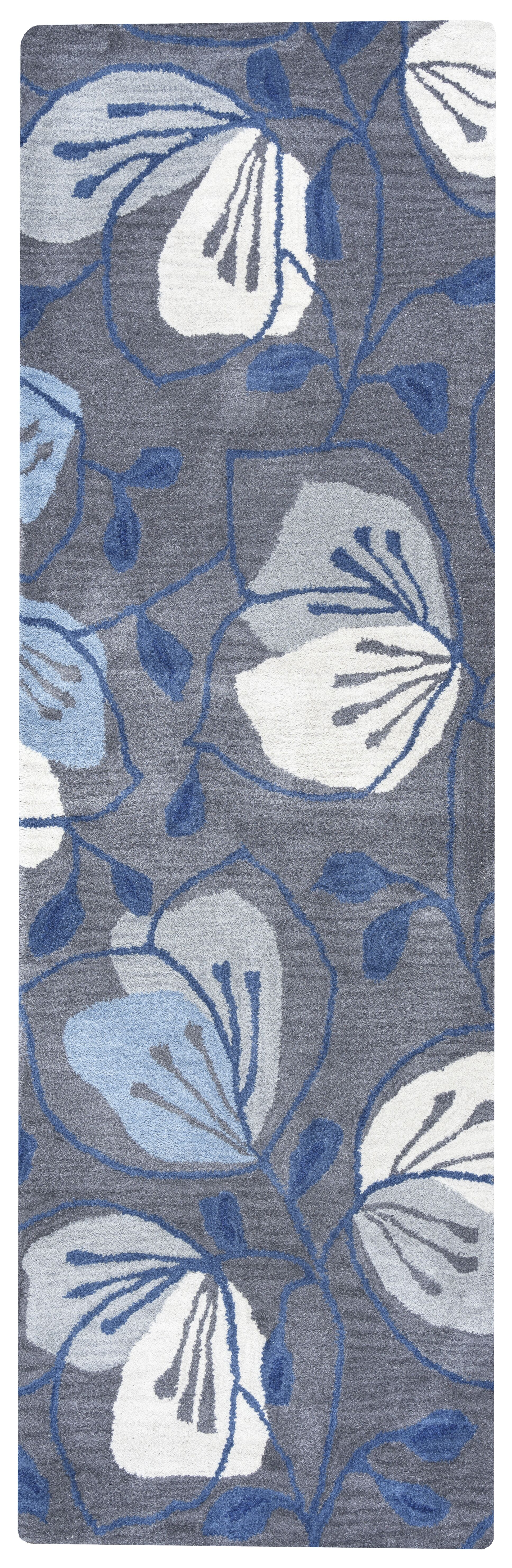 Resolution Hand-Tufted Gray Area Rug Rug Size: Runner 2'6