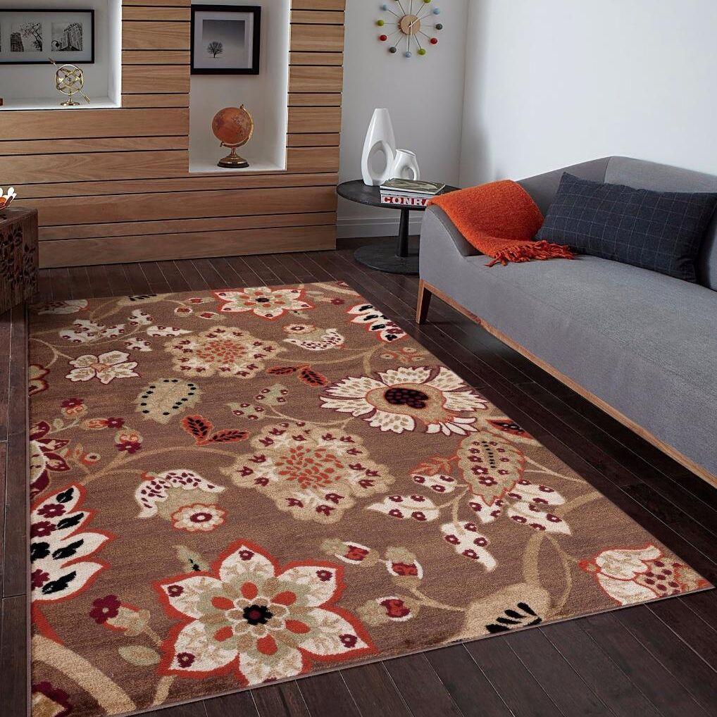 Chapman Brown Indoor/Outdoor Area Rug Rug Size: 5'2