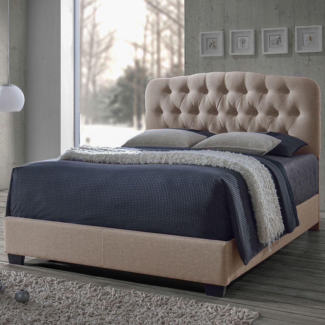 Carnegie Upholstered Panel Bed Color: Brown, Size: King