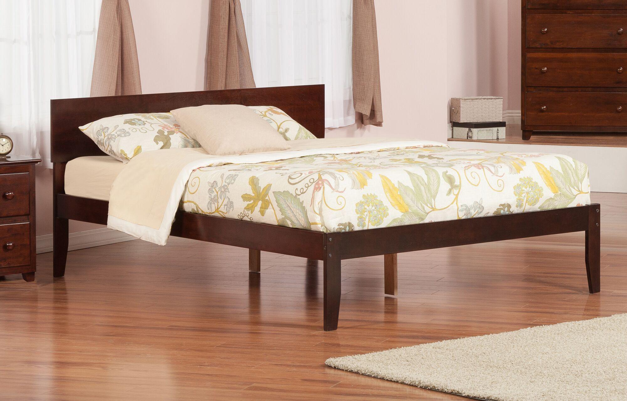 Lewis King Platform Bed Color: Antique Walnut