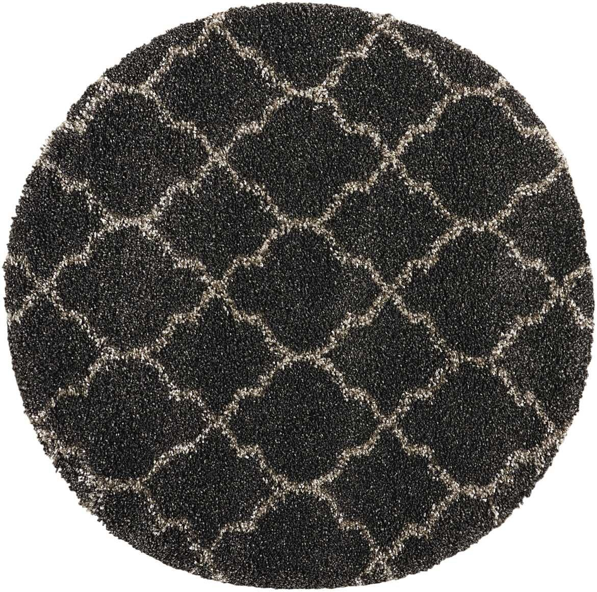 Linton Charcoal Area Rug Rug Size: Round 7'10