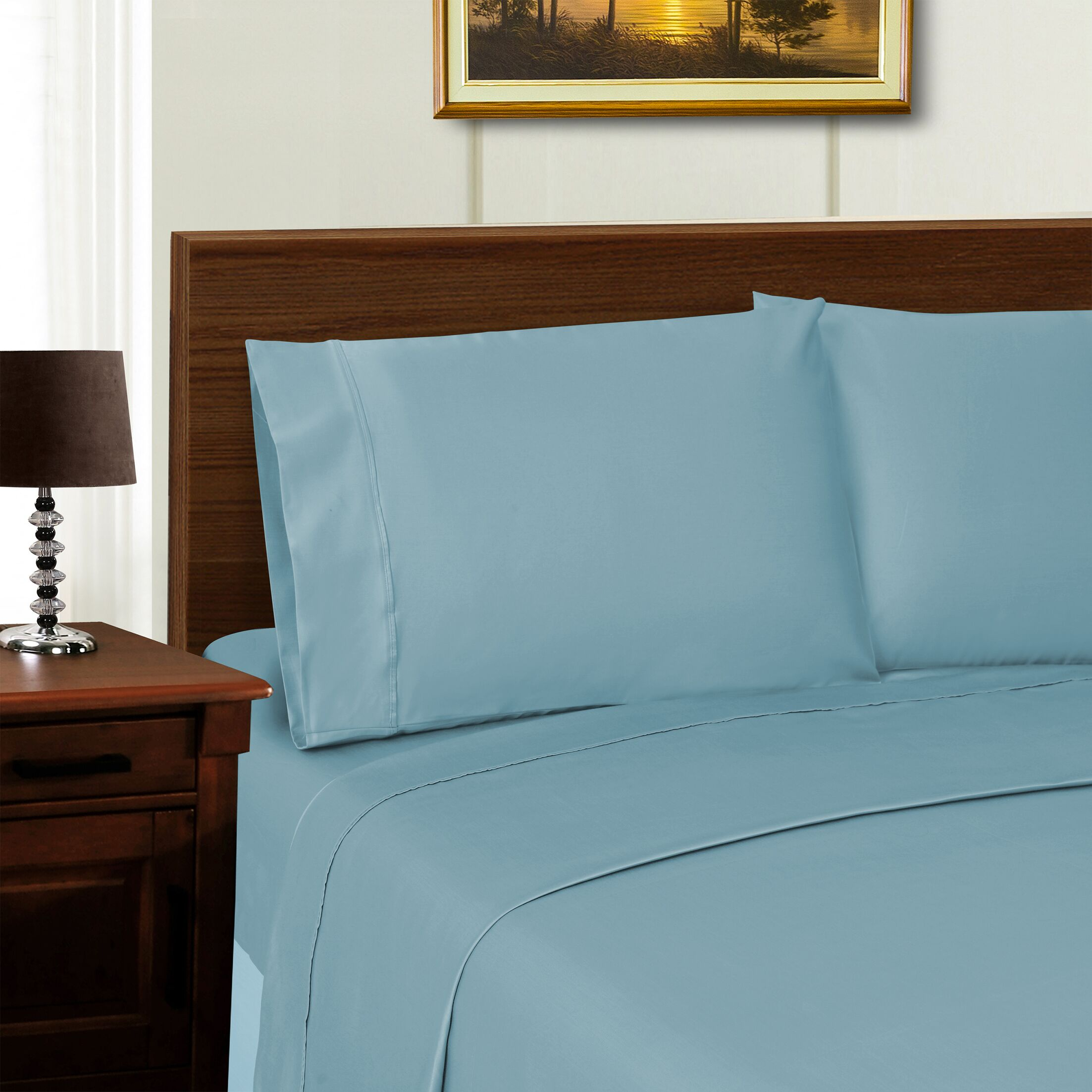 Cullen 1000 Thread Count Sheet Set Color: Blue, Size: California King
