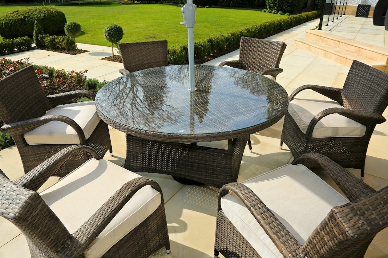 Fager 7 Piece Outdoor Dining Set with Cushions