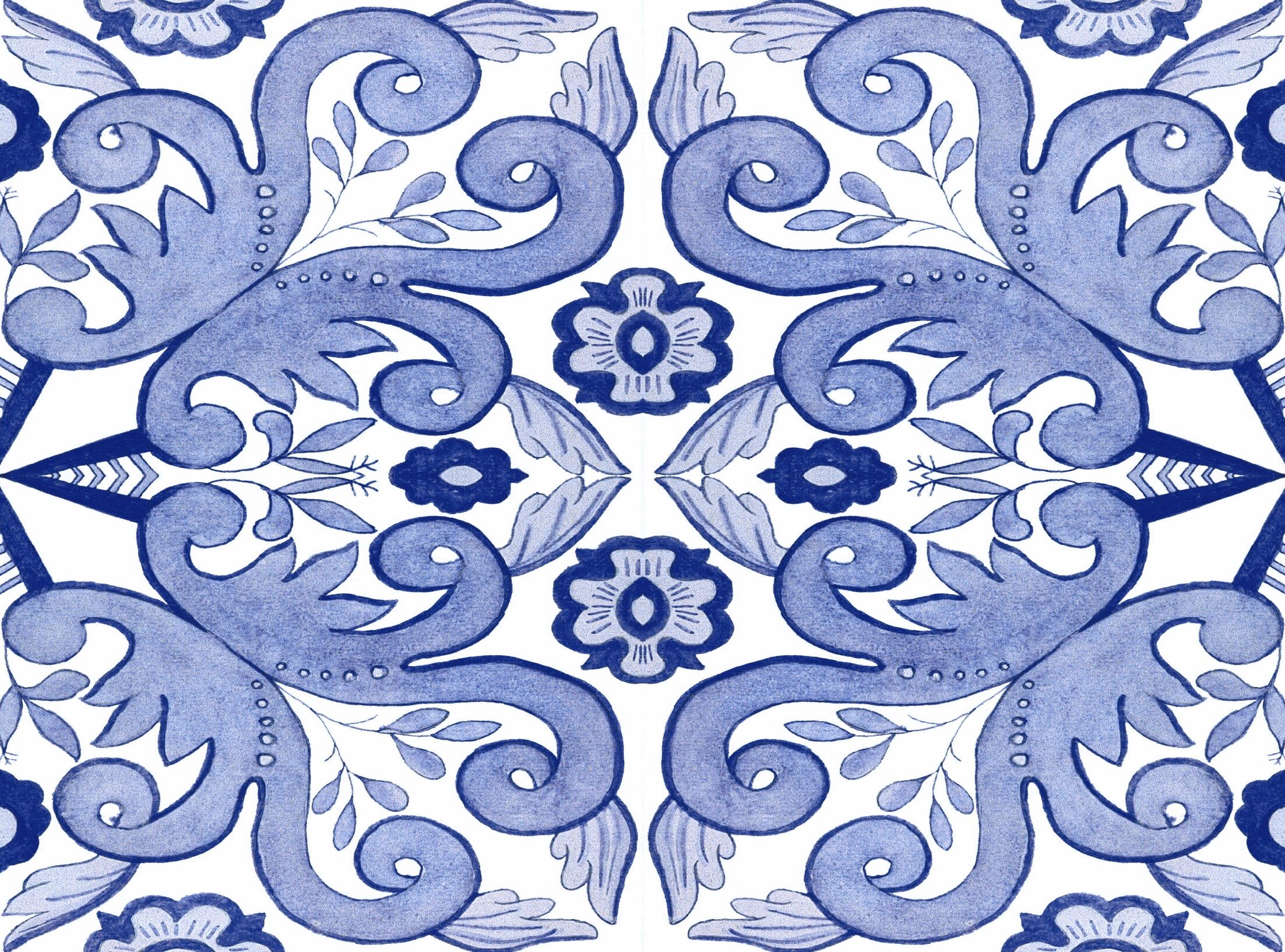 Atherstone 4 Blue/White Area Rug Rug Size: 4' x 6'