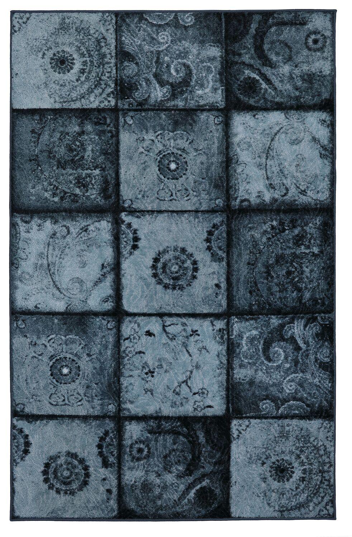 Vester Artifact Blue Area Rug Rug Size: Rectangle 5' x 8'