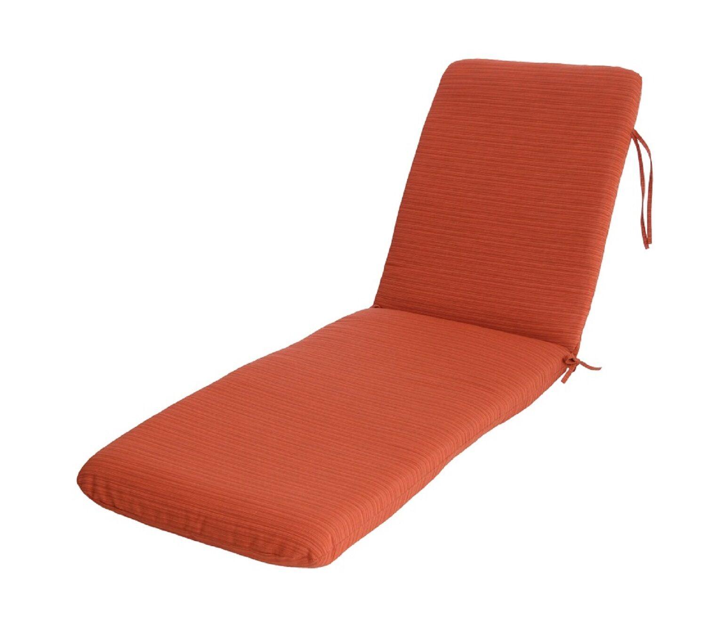 Mindi Indoor/Outdoor Sunbrella Chaise Lounge Cushion Fabric: Papaya