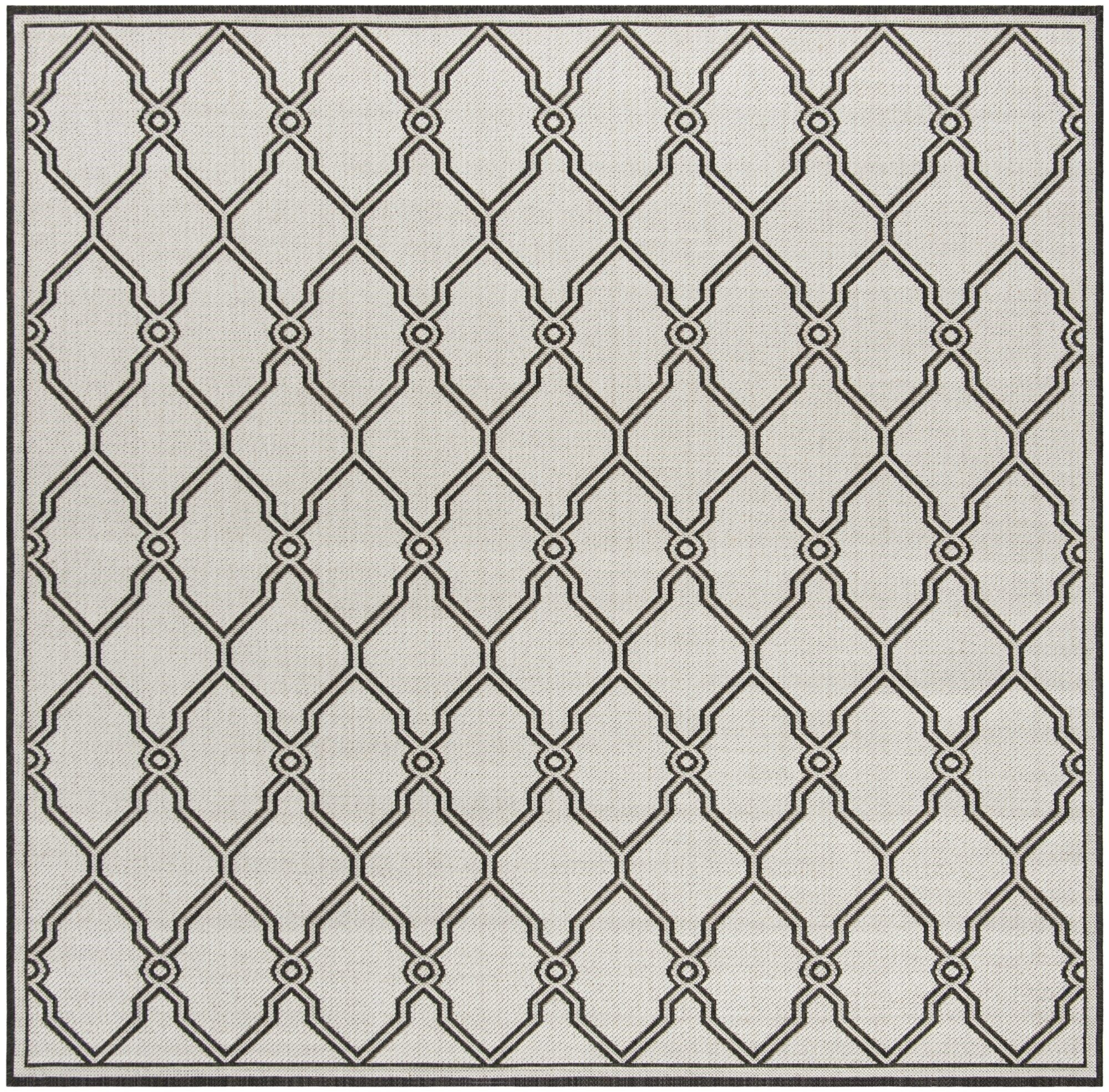 Miesha Contemporary Light Gray Area Rug Rug Size: Square 6'7