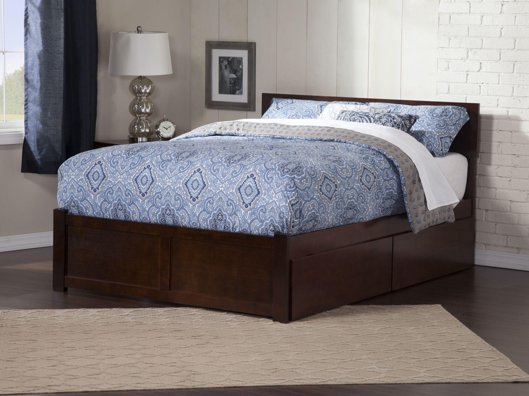 Wrington Storage Platform Bed Size: Twin, Color: Antique Walnut