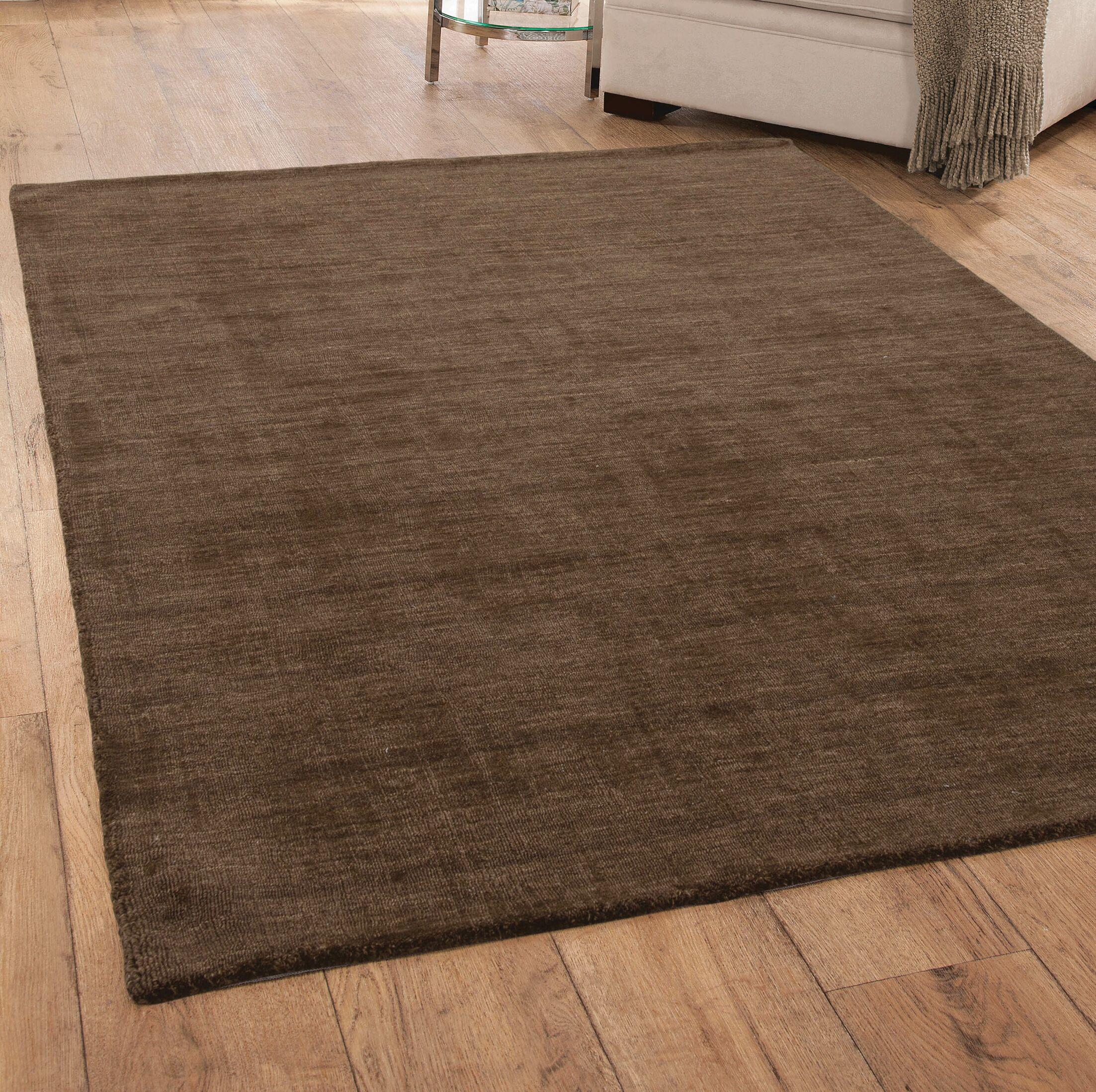 Loring Hand-Tufted Brown Area Rug Rug Size: 8' x 10'