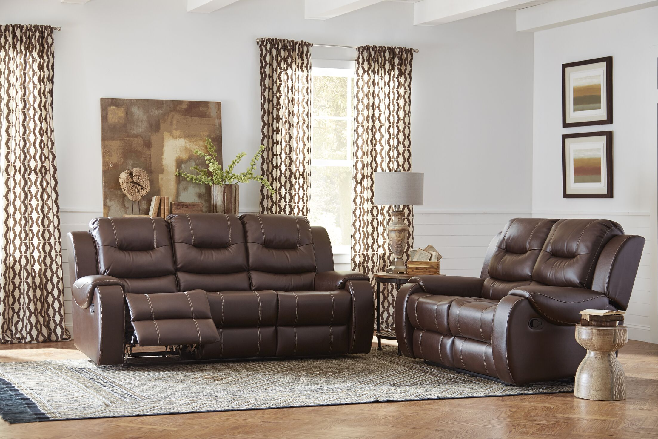 Daigre Reclining 2 Piece Living Room Set Upholstery: Cocoa Brown