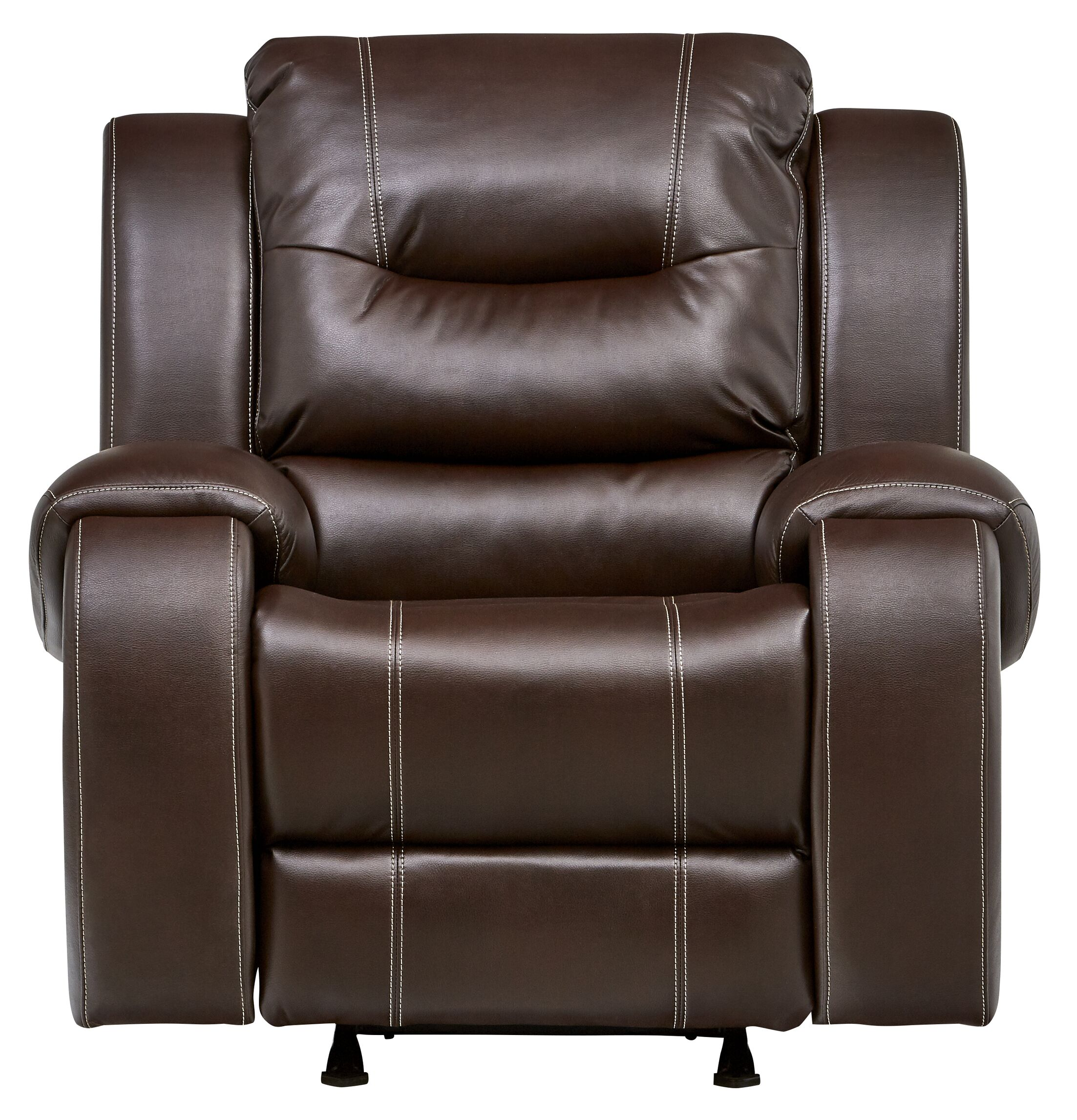 Daigre Recliner Motion Type: No Motion, Reclining Type: Power Recline, Upholstery: Umber
