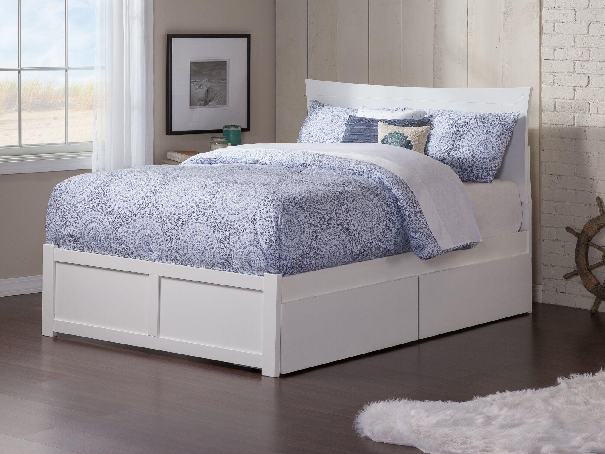 Wrington Storage Platform Bed Color: White, Size: Full