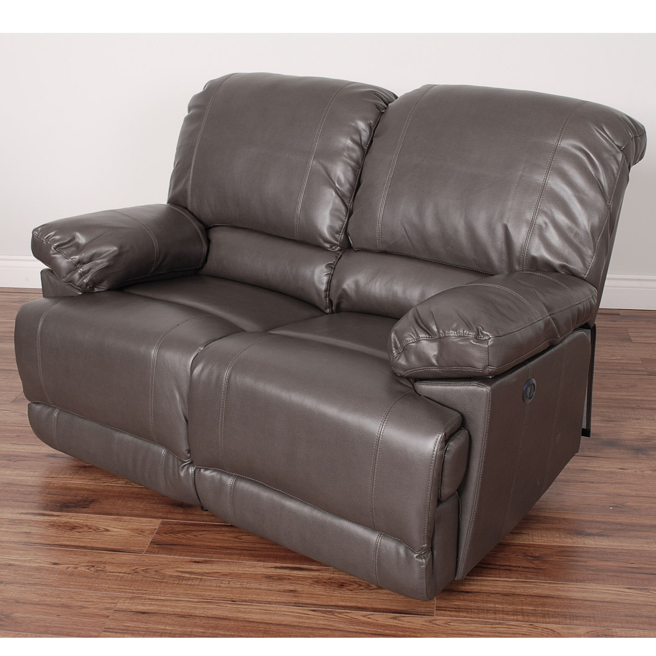 Coyer Reclining Loveseat Color: Brownish Gray