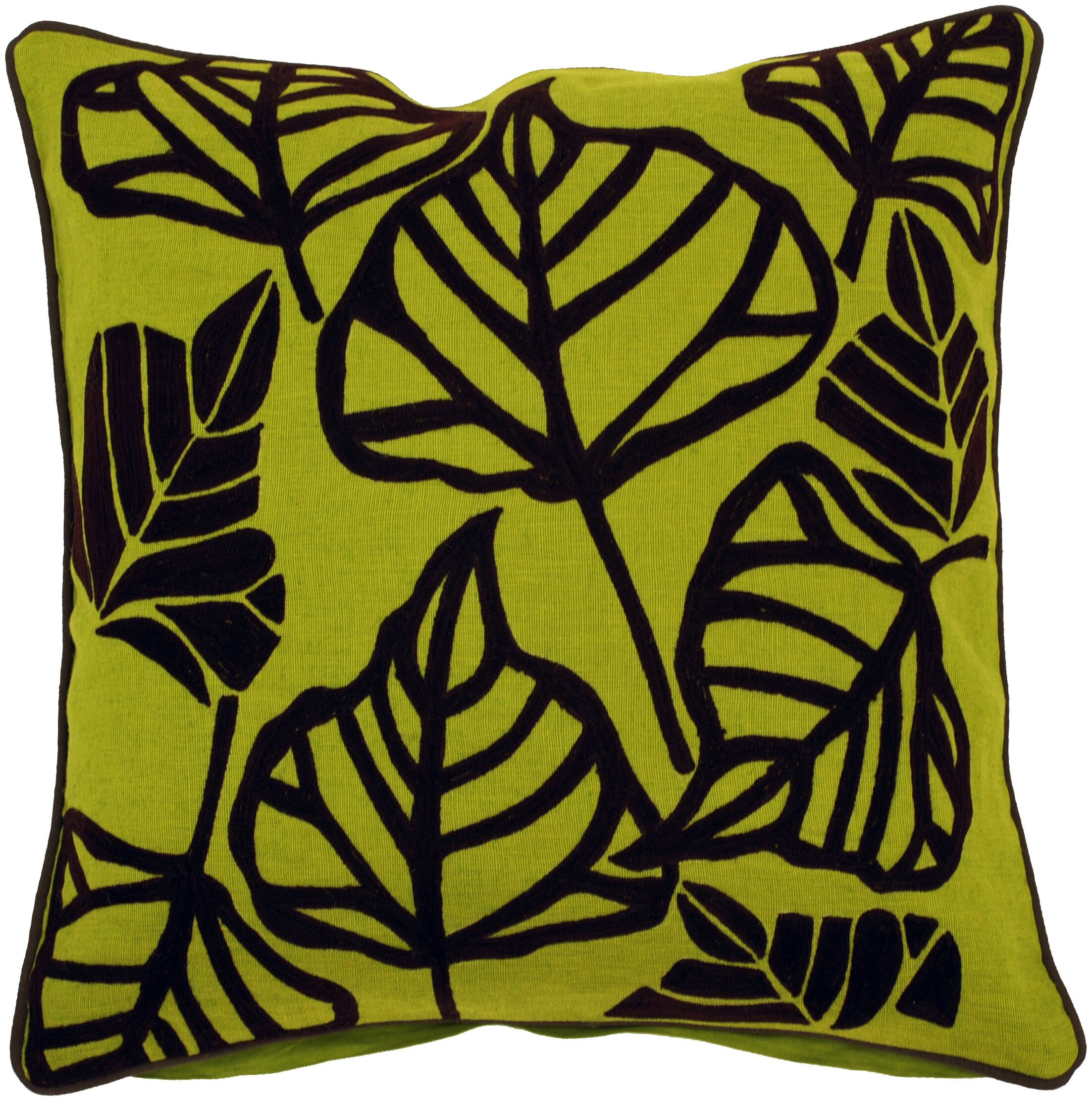 Rosier Leaves Throw Pillow Size: 22