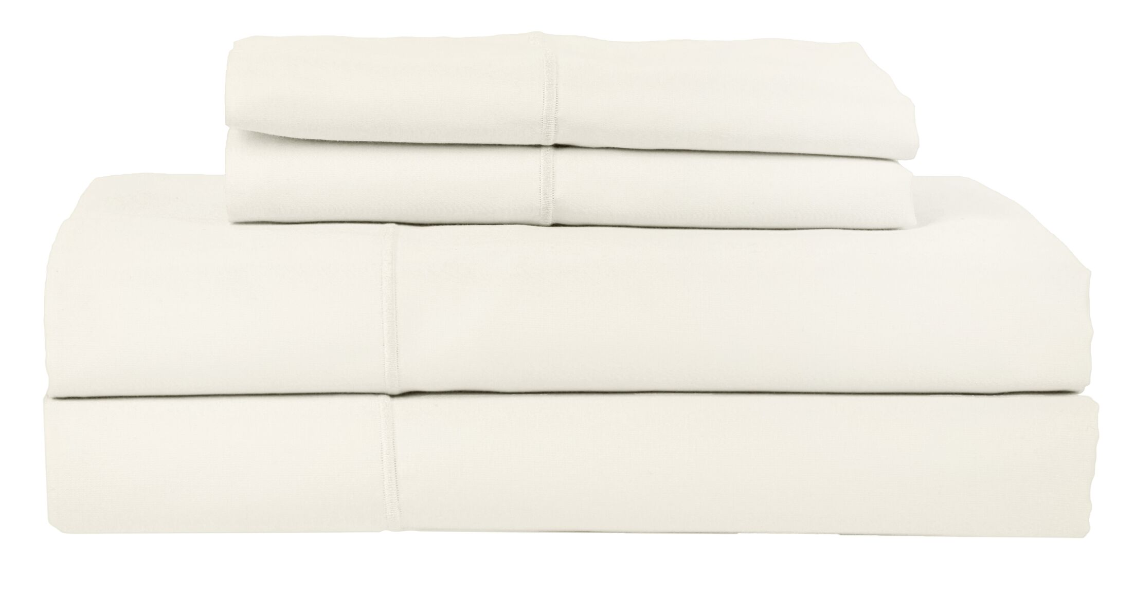 Perthshire Platinum 4 Piece 1200 Thread Count Egyptian Quality Cotton Sateen Sheet Set Size: Queen, Color: Ivory