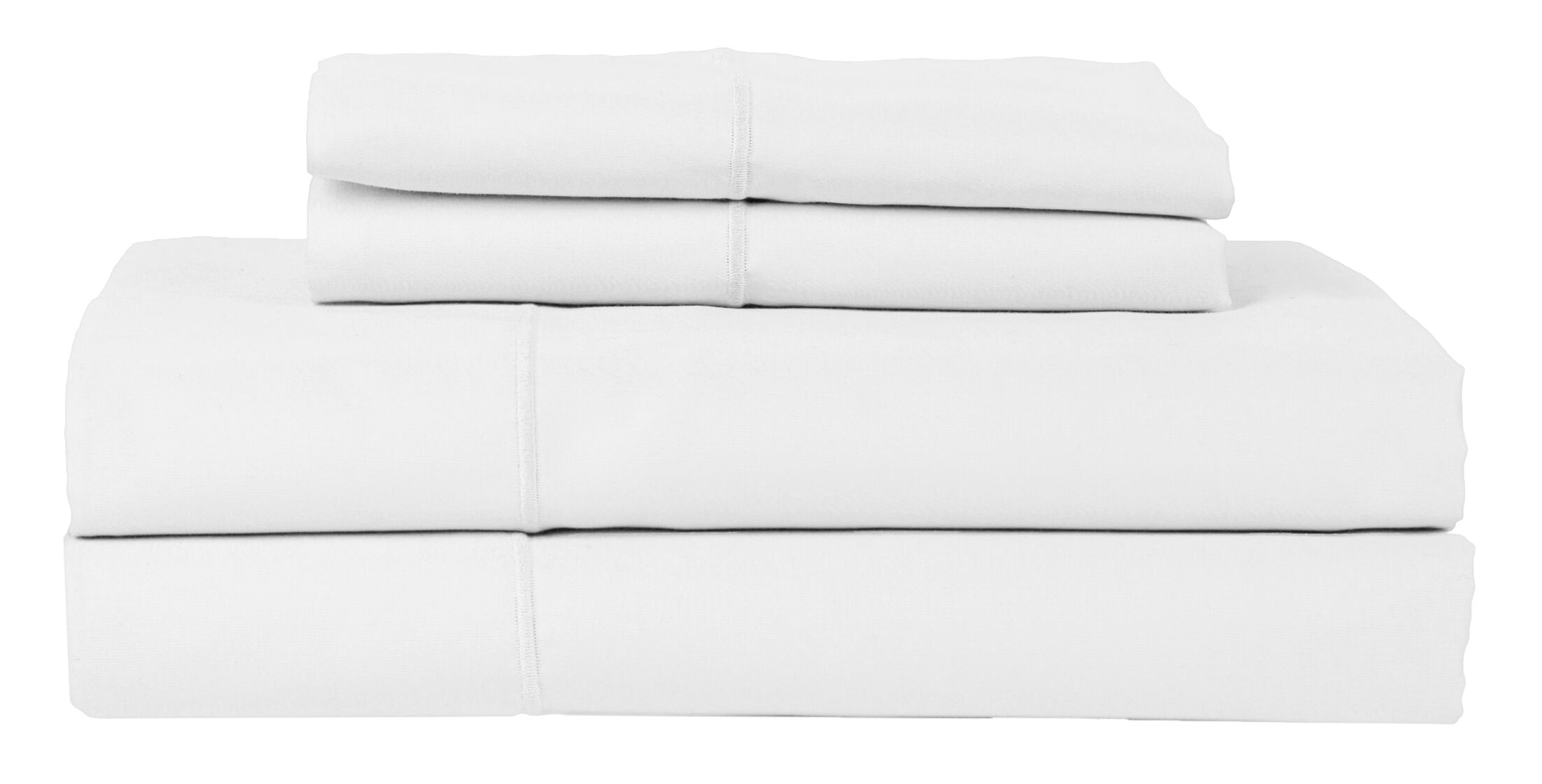 Perthshire Platinum 4 Piece 800 Thread Count Egyptian Quality Cotton Sateen Sheet Set Color: White, Size: California King