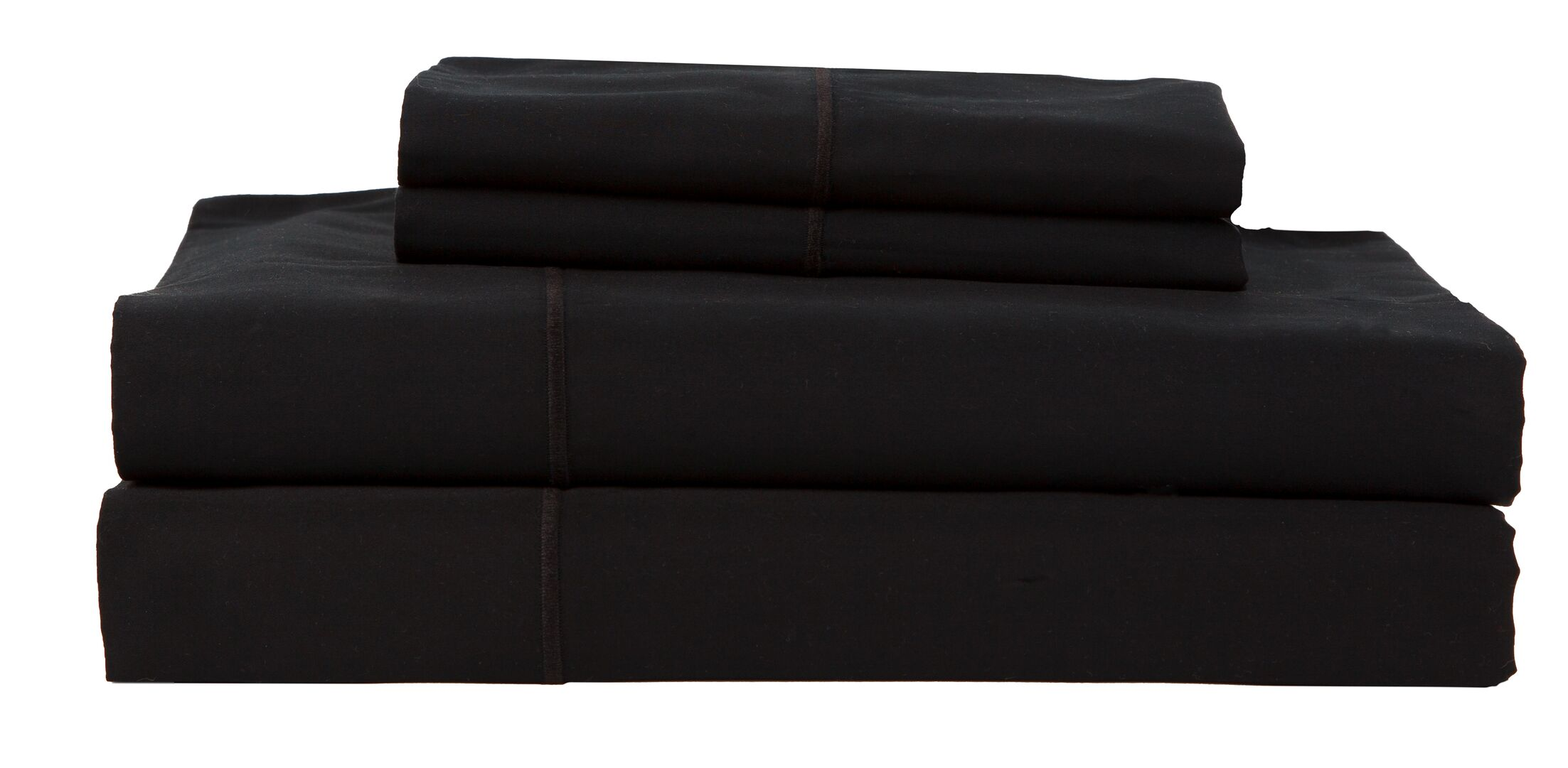 Hotel by Perthshire 4 Piece 620 Thread Count Egyptian Quality Cotton Sateen Sheet Set Color: Black, Size: King