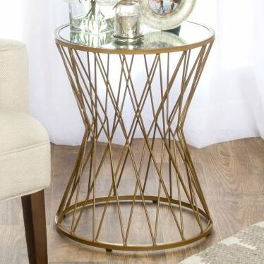 Carpendale Hourglass Metal End Table