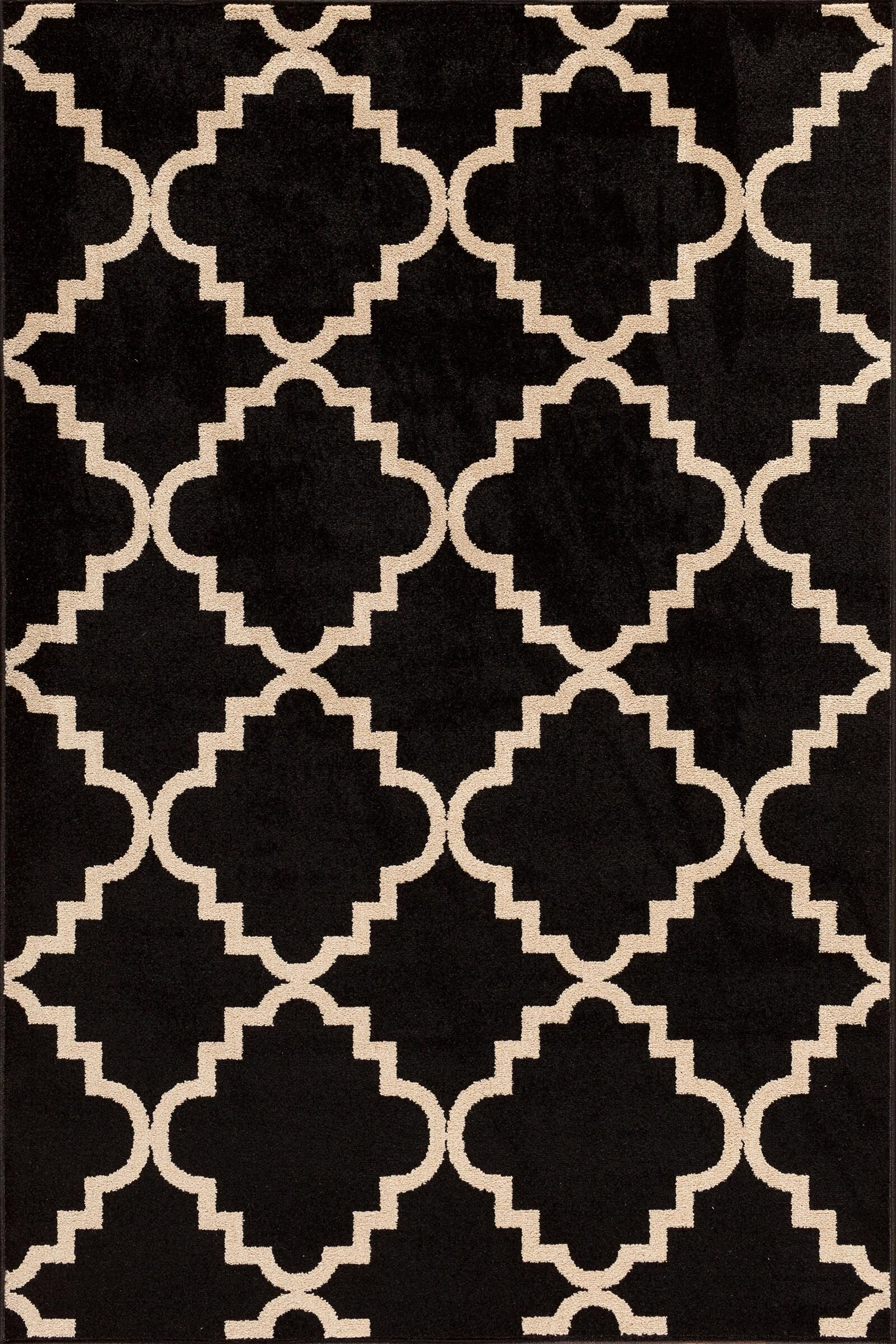 Sitz Onyx/Bone Indoor/Outdoor Area Rug Rug Size: 7'10