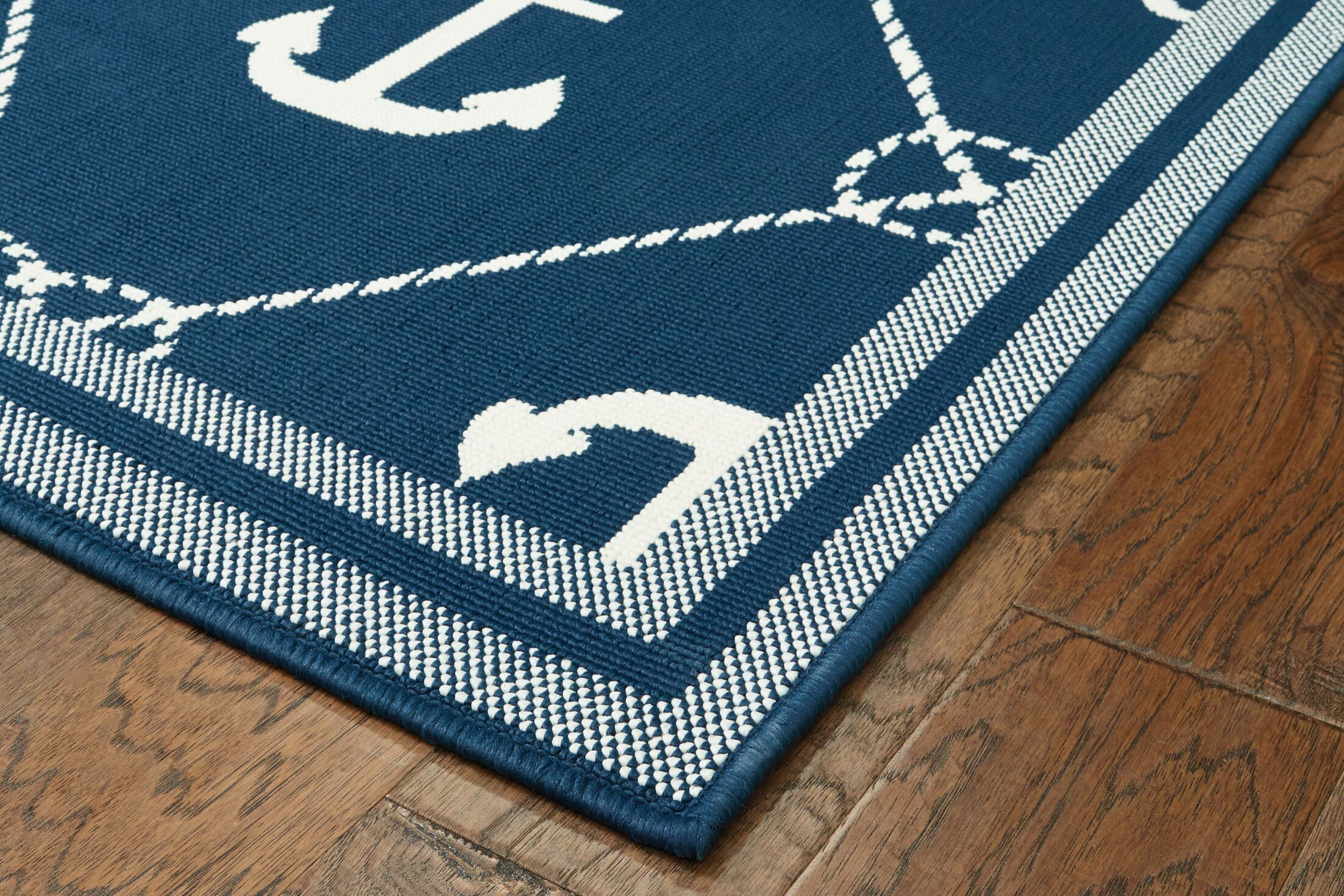 Mariam Anchor Navy Indoor/Outdoor Area Rug Rug Size: 5' x 7'3