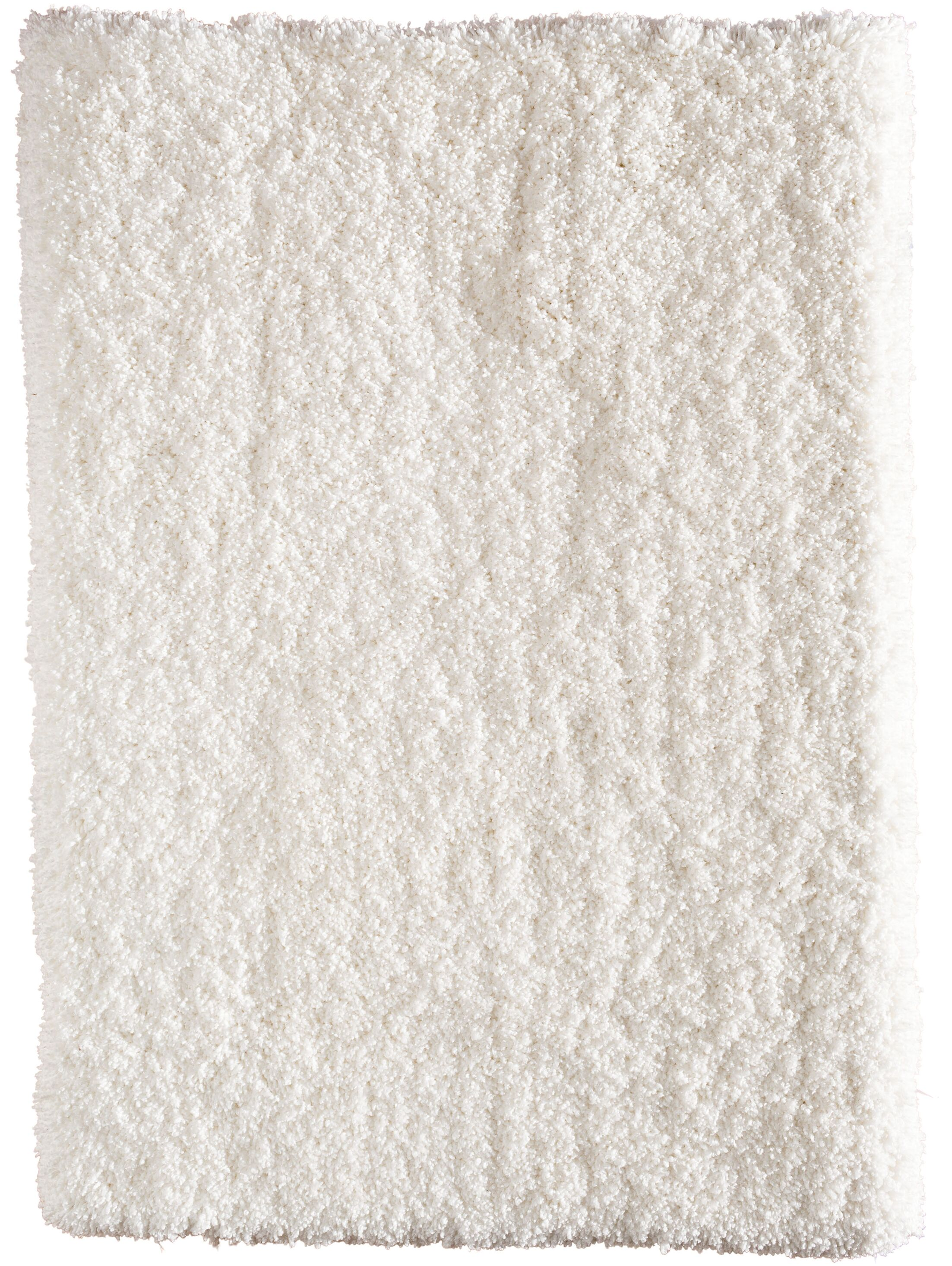 Voorhees Hand-Tufted Snow White Area Rug Rug Size: 7'6
