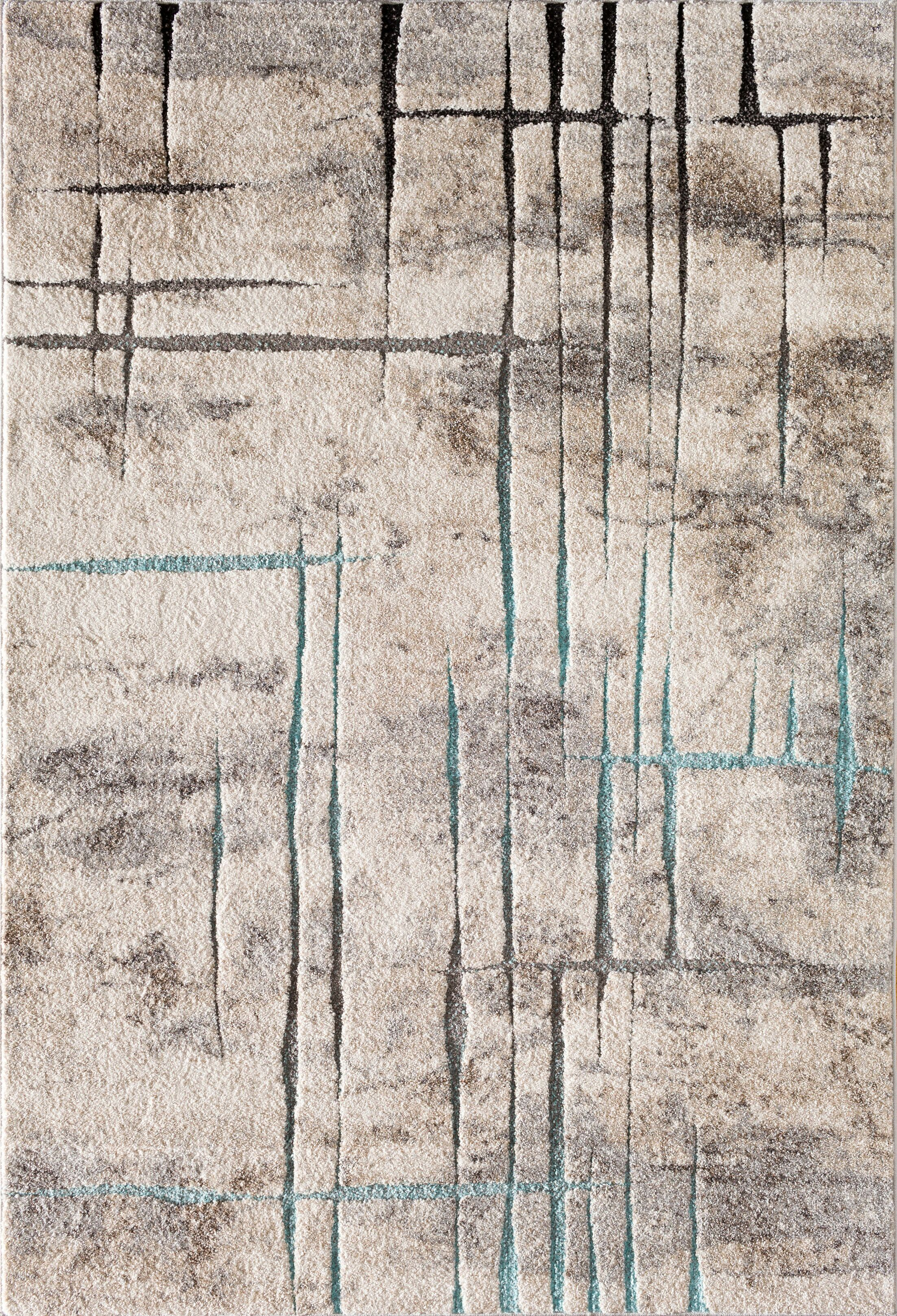 Charlette Gray Area Rug Rug Size: 5' x 7'3